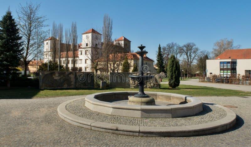 Rynek w grodzkim Bucovice w republika czech zdjęcie royalty free