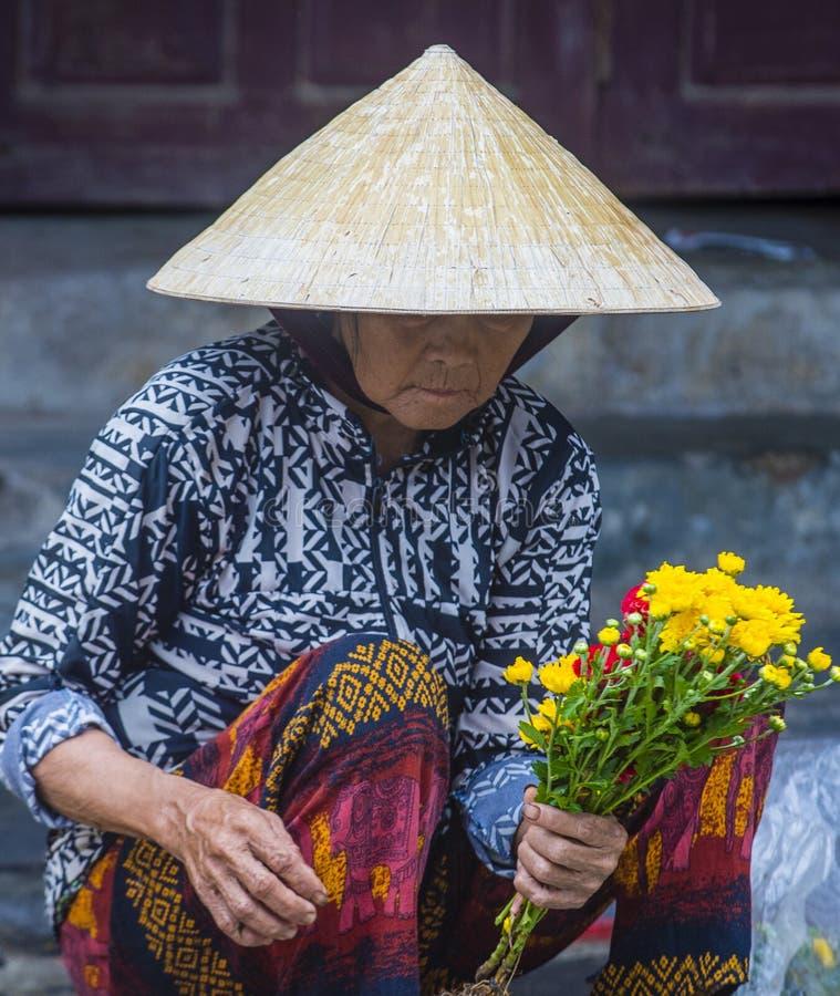 Rynek w Hoi Wietnam obraz royalty free