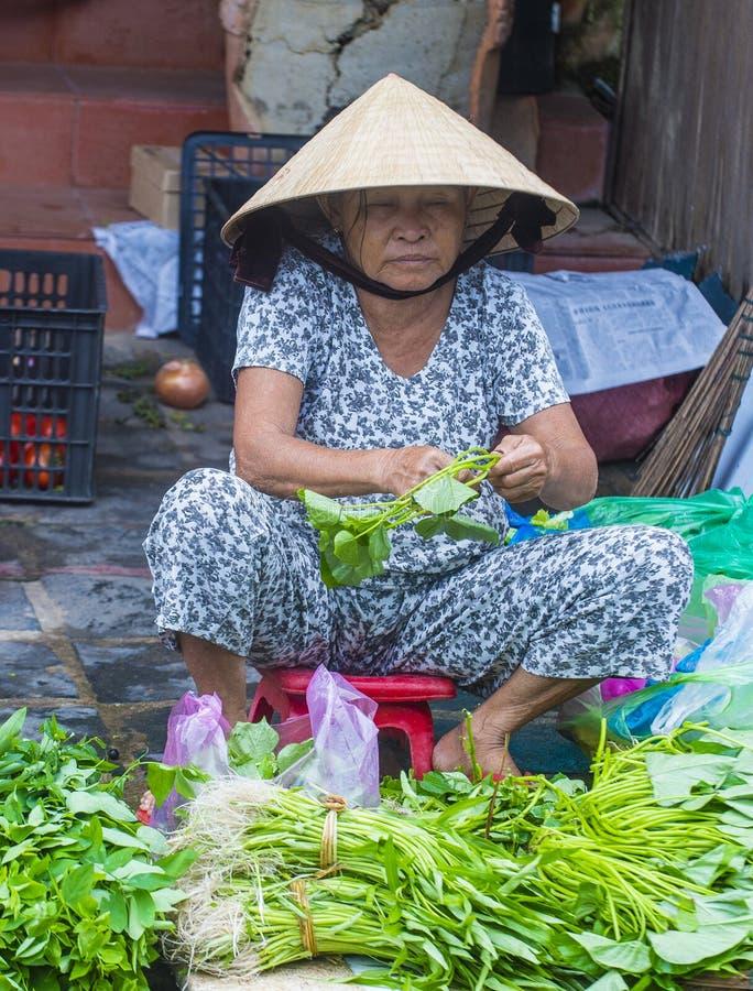Rynek w Hoi Wietnam fotografia royalty free