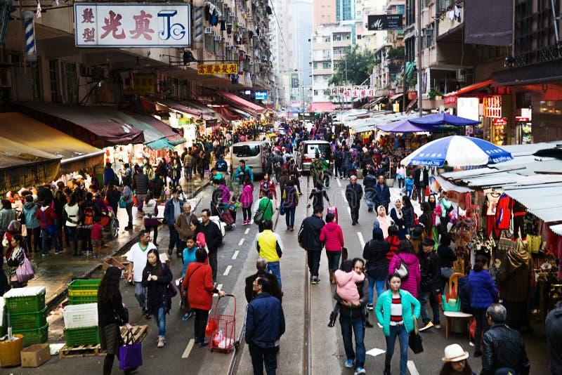 Rynek w Hong Kong fotografia stock