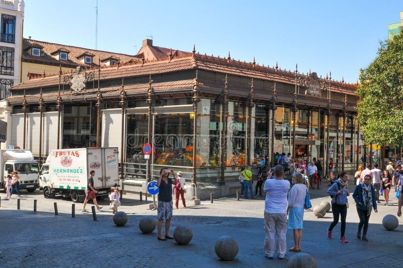 Rynek w Madryt, Hiszpania obraz royalty free