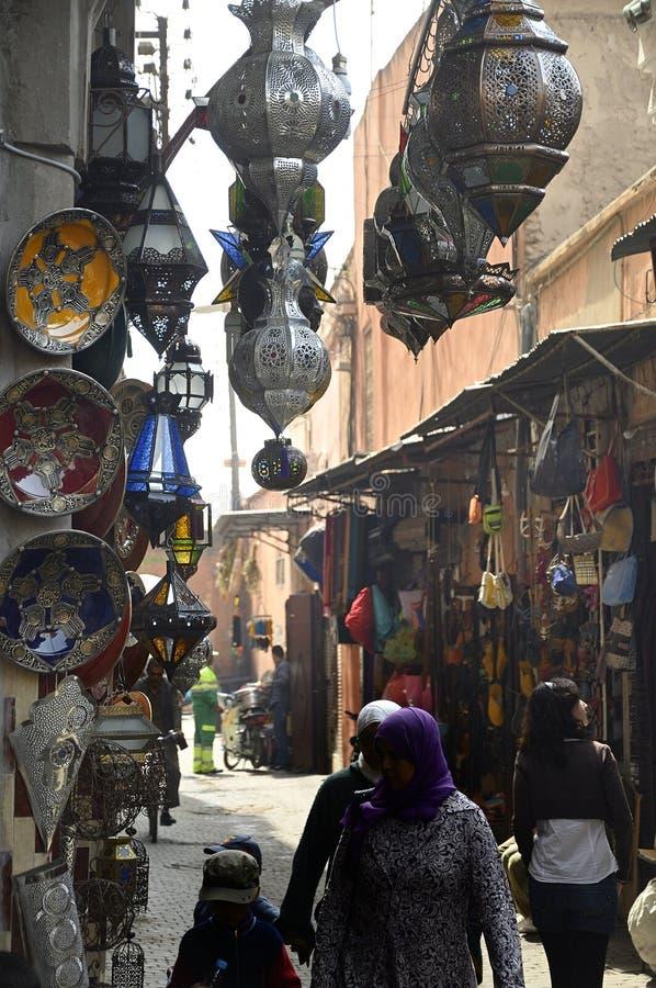 Rynek w Marrakech w marroco fotografia royalty free