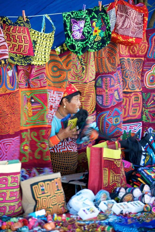 Rynek w Panamskim mieście zdjęcia stock