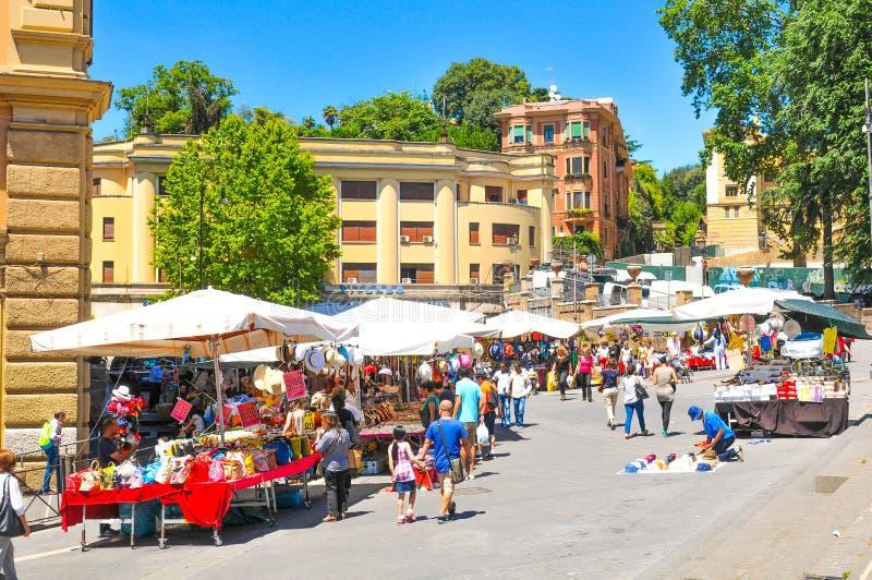 Rynek w Rzym, Włochy fotografia stock