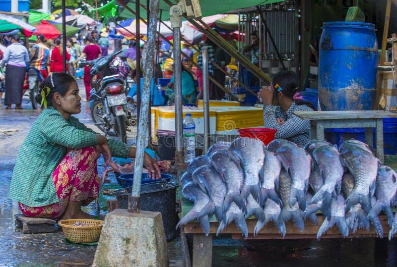 Rynek w shanu stanie Myanmar obrazy royalty free