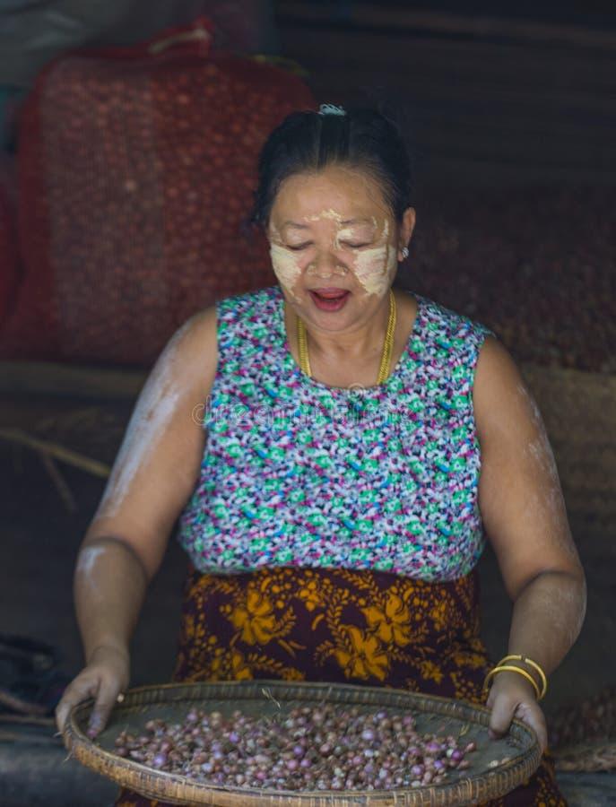 Rynek w shanu stanie Myanmar obraz royalty free