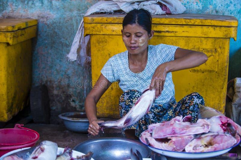 Rynek w shanu stanie Myanmar obrazy stock