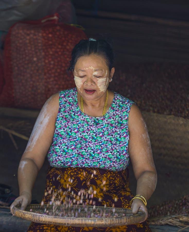 Rynek w shanu stanie Myanmar fotografia royalty free