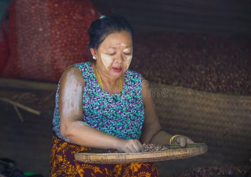 Rynek w shanu stanie Myanmar zdjęcia royalty free