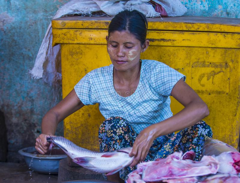 Rynek w shanu stanie Myanmar zdjęcie stock