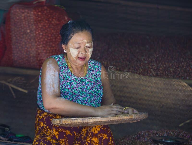 Rynek w shanu stanie Myanmar zdjęcie royalty free