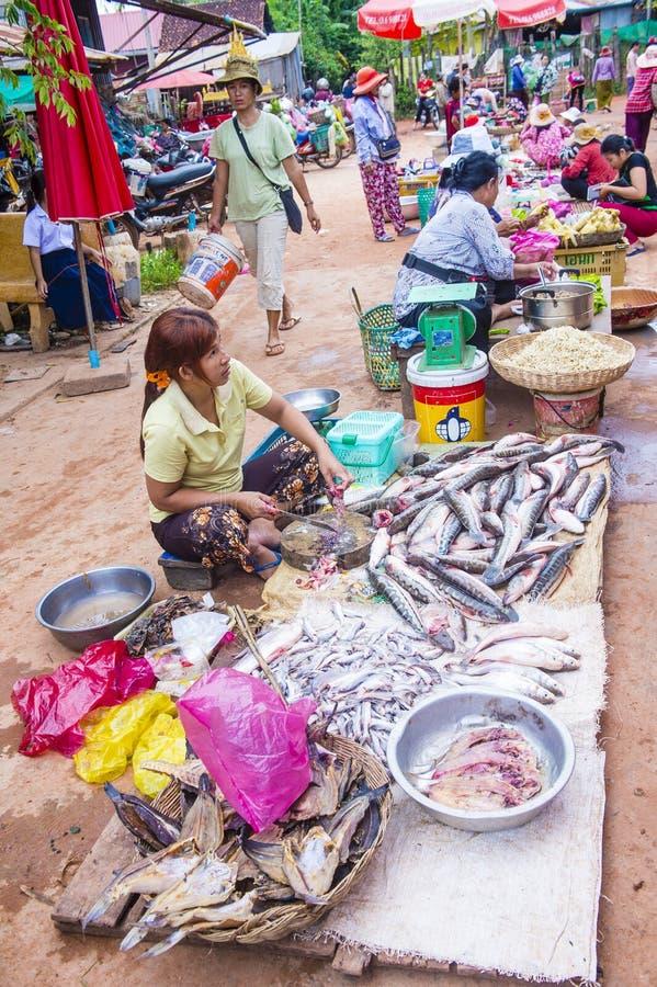 Rynek w Siem Przeprowadza żniwa Kambodża zdjęcie royalty free