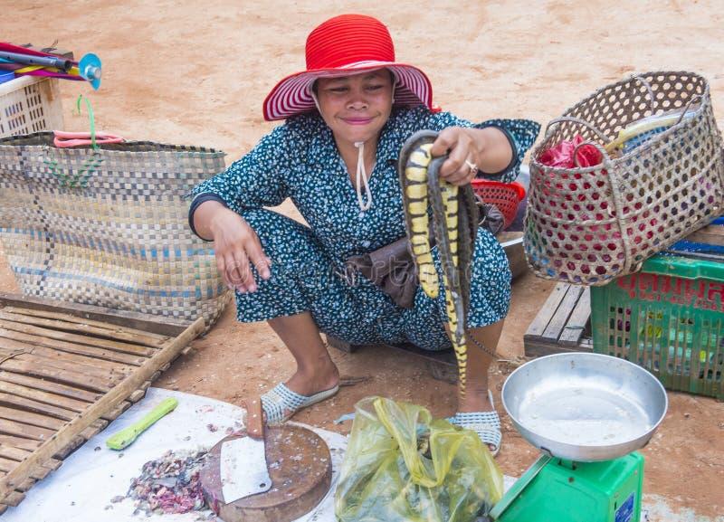 Rynek w Siem Przeprowadza żniwa Kambodża zdjęcie stock