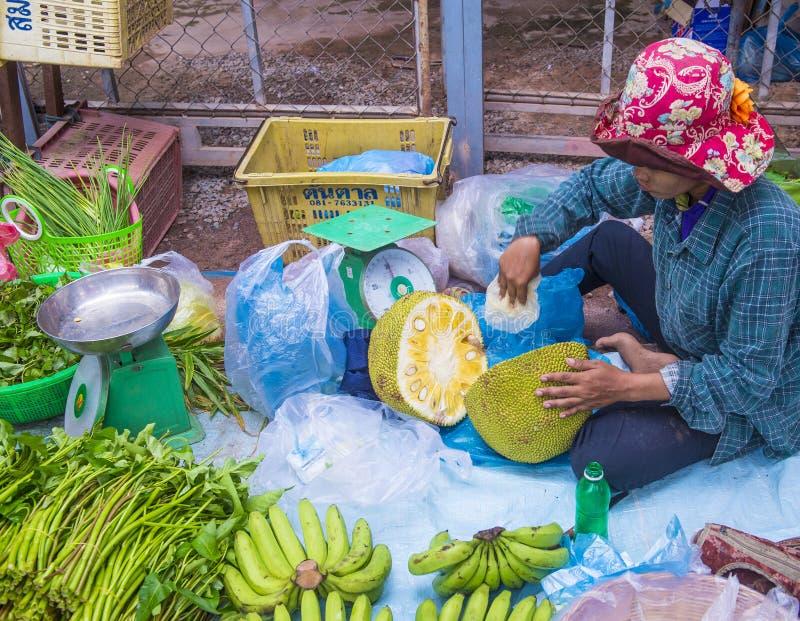 Rynek w Siem Przeprowadza żniwa Kambodża obrazy royalty free