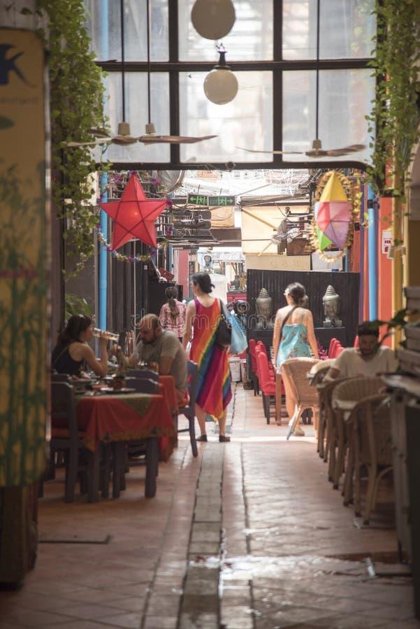 Rynek w Siem Przeprowadza żniwa, Kambodża zdjęcia royalty free