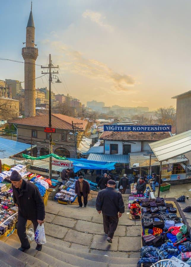 Rynek w starym Ankara fotografia stock