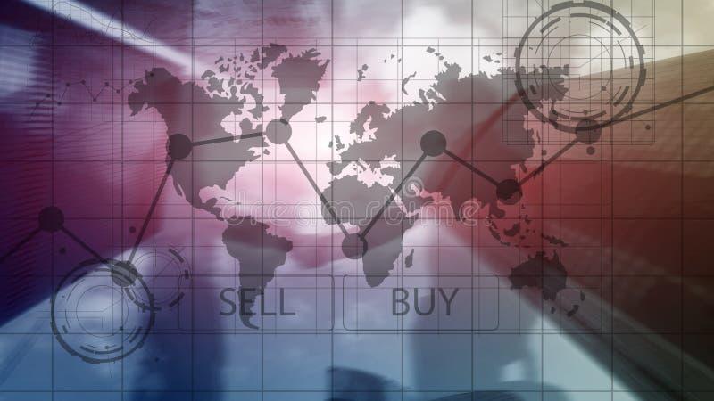 Rynek walutowy mapy Handlarscy Inwestorscy Pieniężni wykresy Biznesu i technologii pojęcie zdjęcia stock