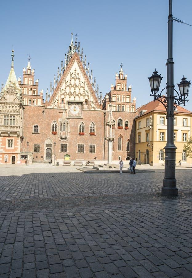 Rynek wroclaw Πολωνία Ευρώπη στοκ φωτογραφία