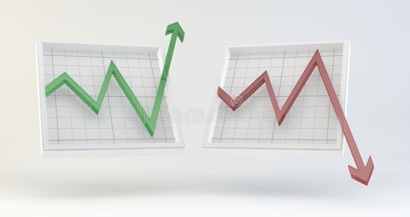 Rynków Papierów Wartościowych wykresy ilustracji