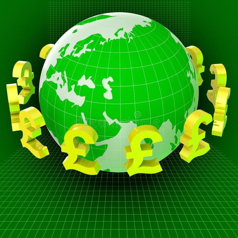 Rynków walutowych funty Wskazują Wekslowego tempo I Gbp ilustracja wektor