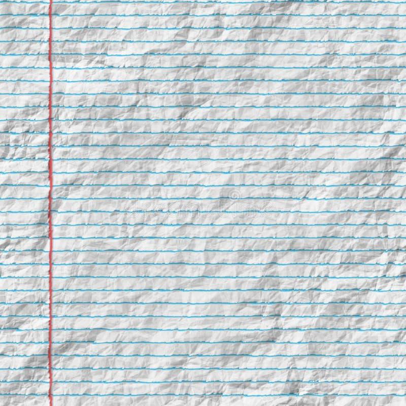Rynkigt fodrat papper vektor illustrationer
