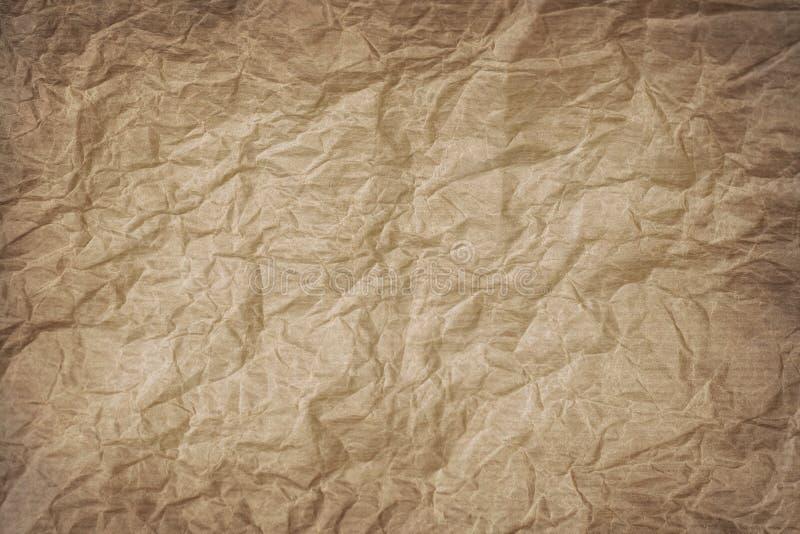 rynkigt kraft papper arkivbilder