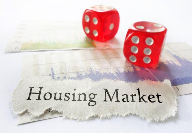 Rynku budownictwa mieszkaniowego ryzyko obrazy stock