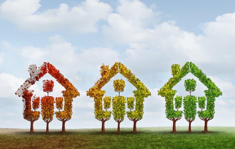 Rynku Budownictwa Mieszkaniowego wyzdrowienie ilustracji