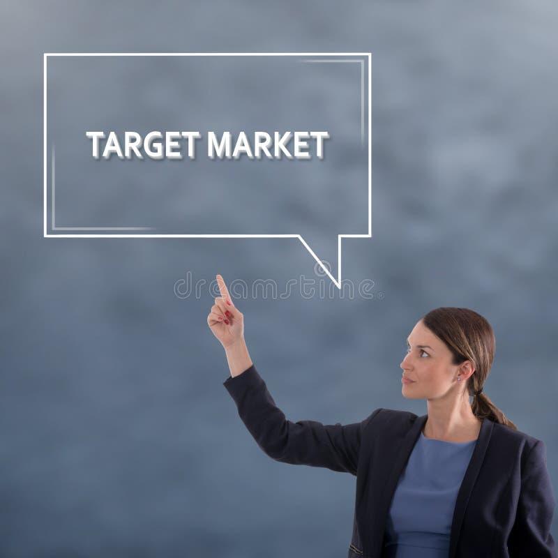 RYNKU DOCELOWEGO biznesu pojęcie Biznesowej kobiety grafiki pojęcie obrazy stock