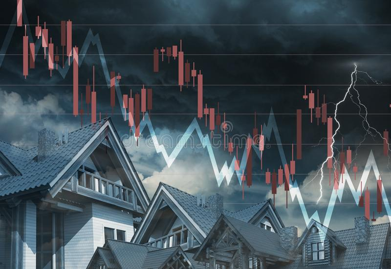Rynku Nieruchomości puszek ilustracja wektor