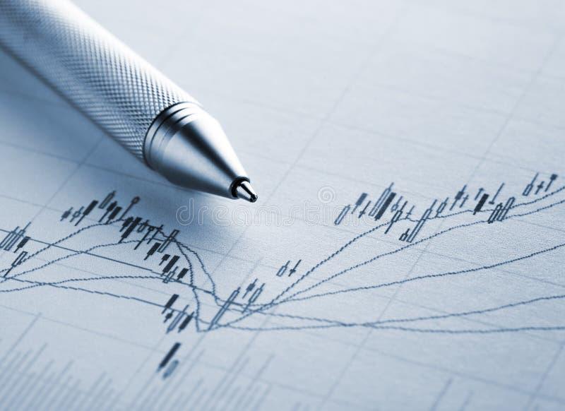 Rynku Papierów Wartościowych wykres obrazy stock