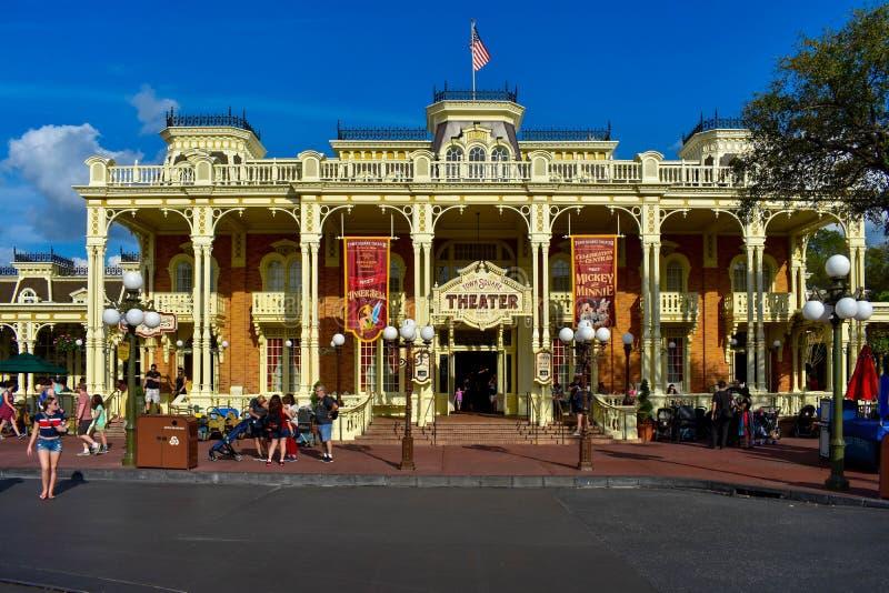 Rynku teatr w Magicznym królestwie przy Walt Disney World zdjęcia stock