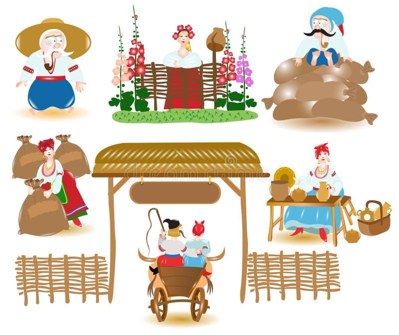 rynku ukrainian ilustracja wektor