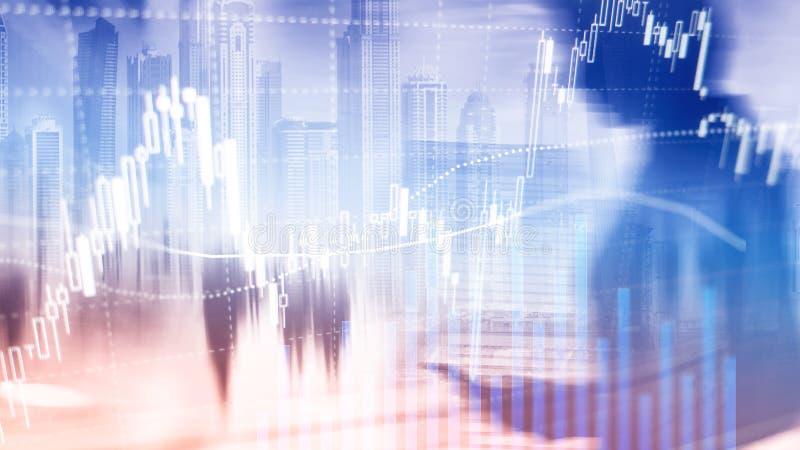 Rynku walutowego handel, rynek finansowy, Inwestorski pojęcie na centrum biznesu tle zdjęcia royalty free