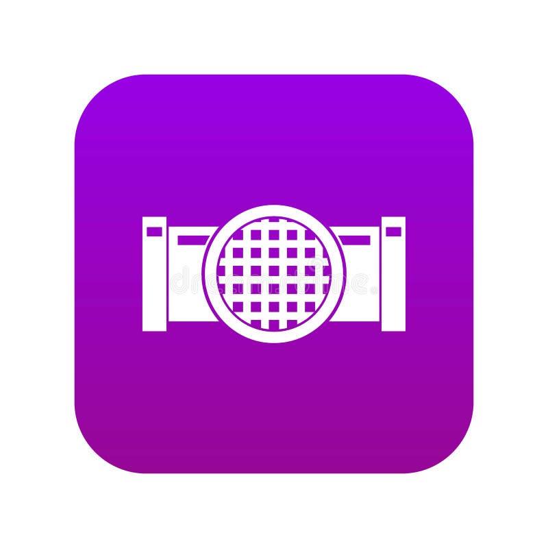 Rynsztokowej drymby ikony cyfrowe purpury ilustracji