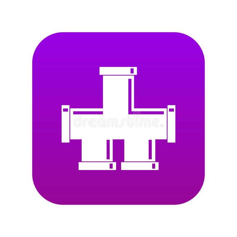 Rynsztokowej system ikony cyfrowe purpury ilustracji