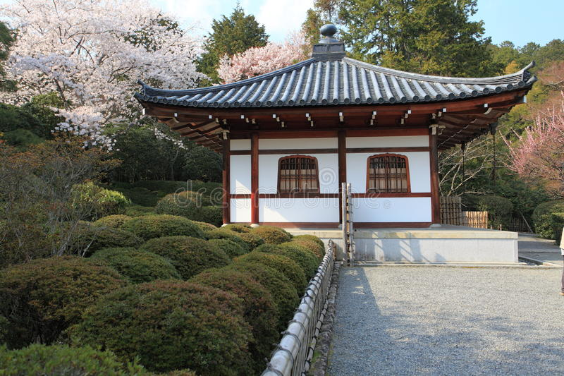 Ryoan-jitempel, Kyoto, Japan stockbild