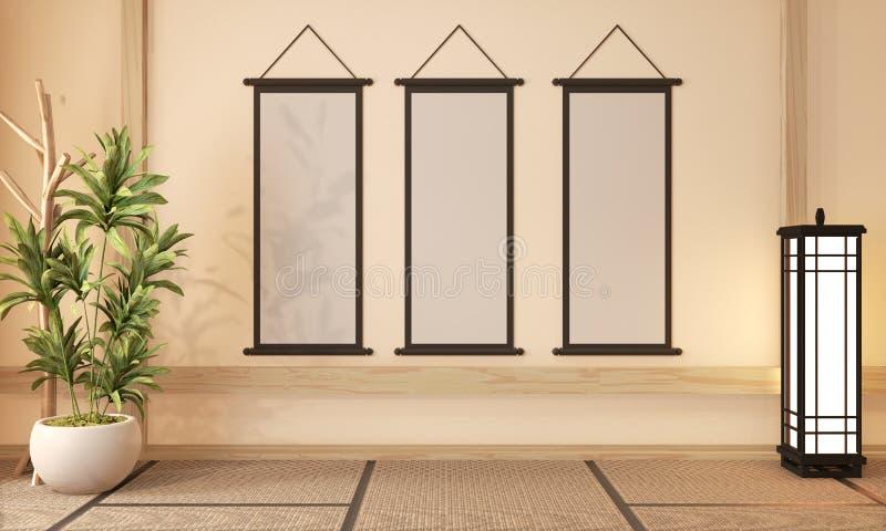 Interior Ryokan room design very japanese style.3D rendering stock photo