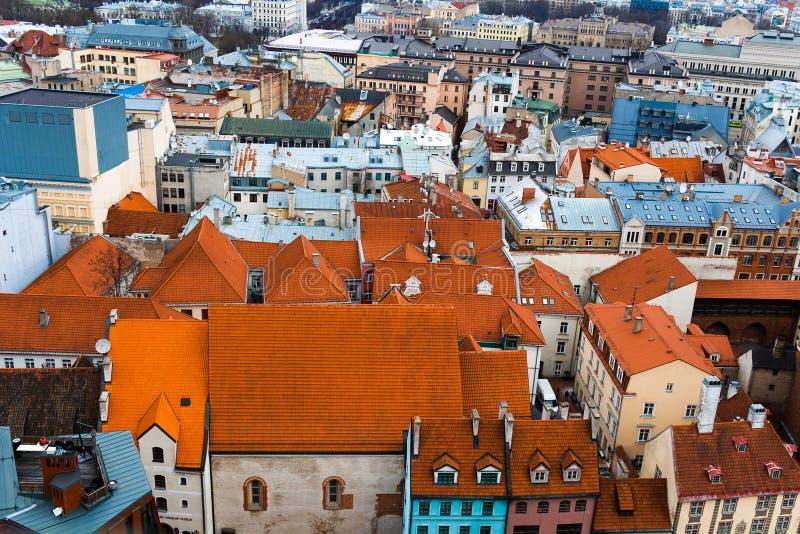 Ryscy starzy miasteczko dachu wierzchołki zdjęcie royalty free
