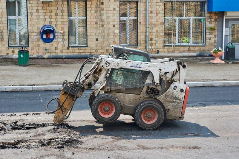 RYSIA RUDY hydrauliczny jackhammer obrazy royalty free