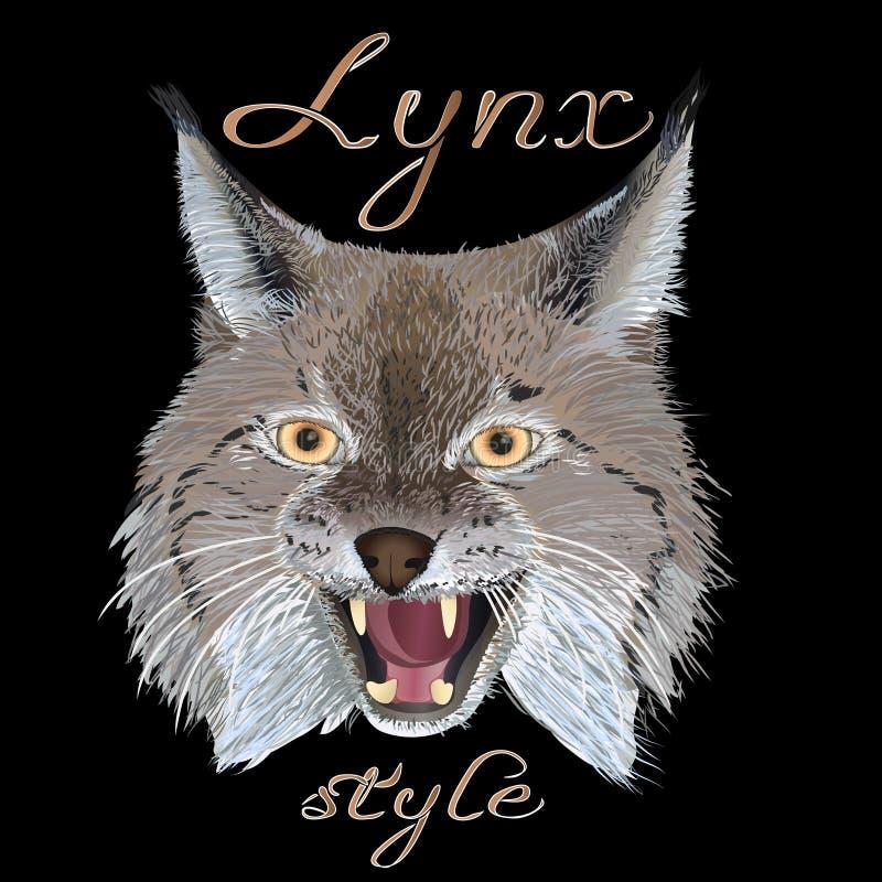 Rysia styl royalty ilustracja