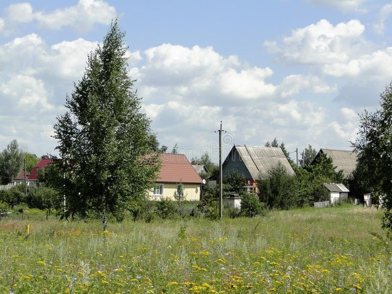 Rysk by royaltyfri fotografi
