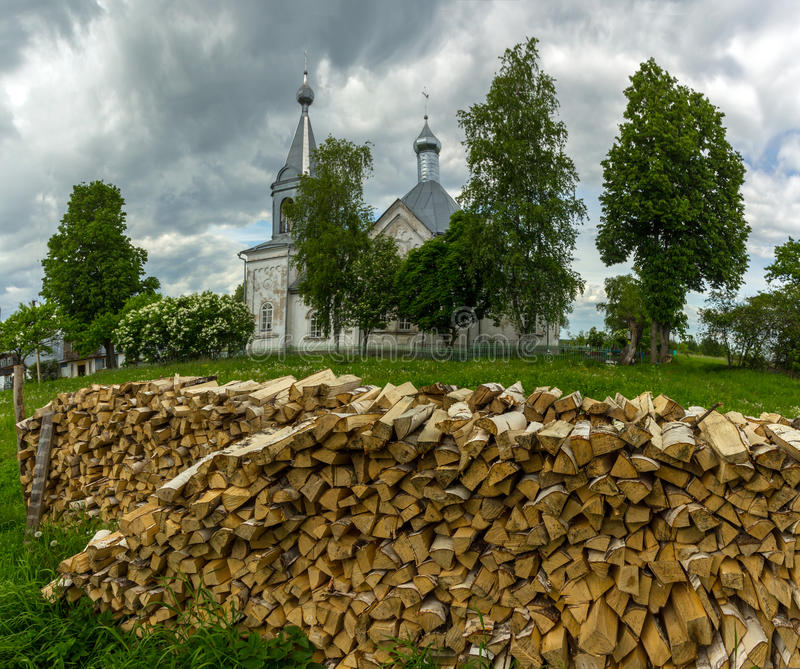 Rysk by arkivfoton