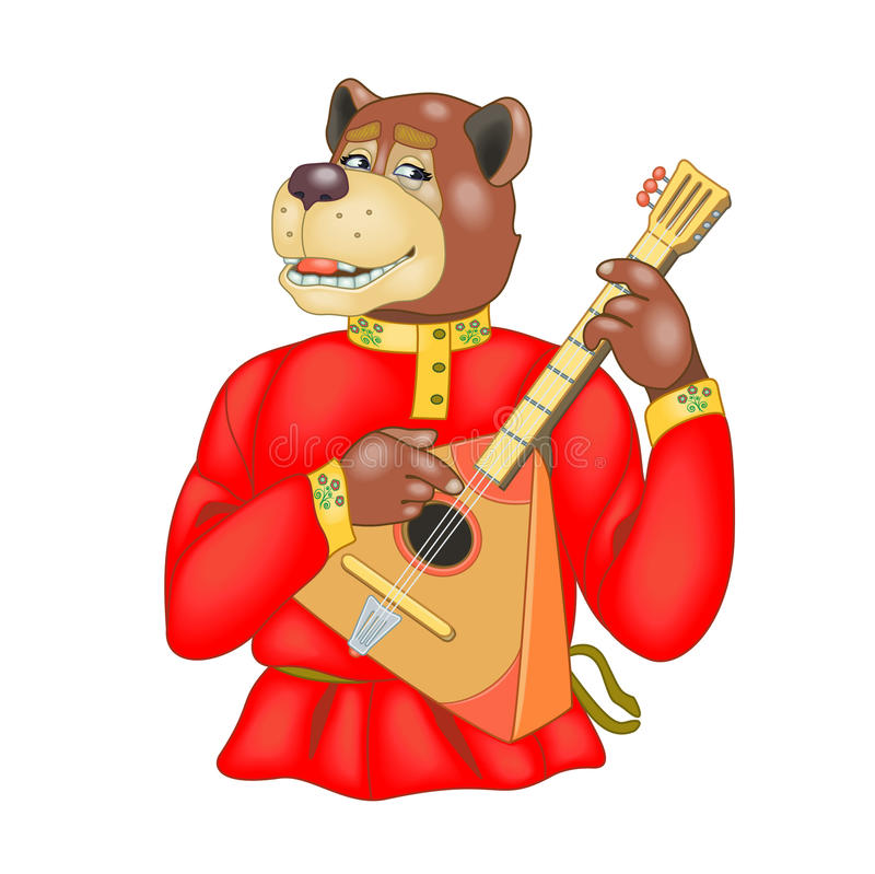 Rysk björn stock illustrationer