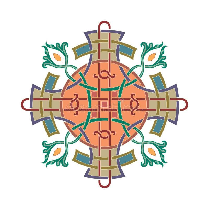 Rysk celtic orientalisk prydnad - illustrationdesigner stock illustrationer
