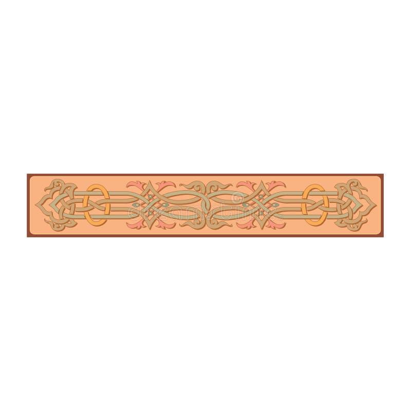 Rysk celtic orientalisk prydnad - illustrationdesigner royaltyfri illustrationer