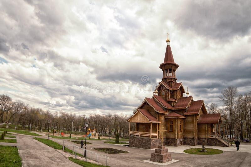 Rysk federation, Samara, stadskyrka royaltyfria foton