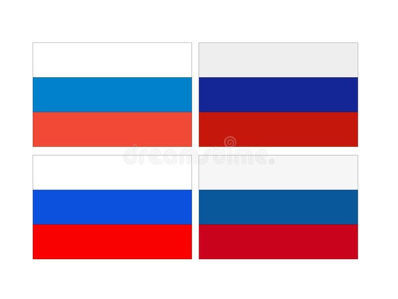 Rysk flagga - rysk federation royaltyfri illustrationer