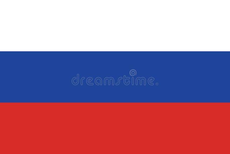 Rysk flaggavektor Ryssland flaggavektor eps10 Flagga för rysk federation stock illustrationer