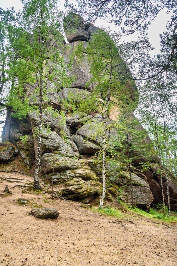 Rysk fristad för reservStolby natur Nära Krasnoyarsk arkivfoton